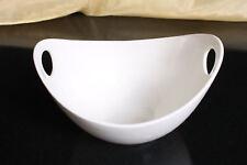 Schale oval mit Griffen Porzellan weiss Salatschale Obstschale Ø 28,5/22