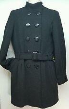 Express dark gray wool blend tweed dbl breasted peacoat winter coat womens M