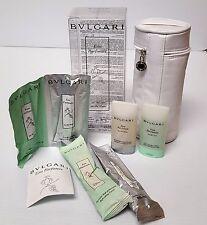 Rare BVLGARI Sample Cosmetic Bag au the vert & au the blanc Cologne, Shampoo ++