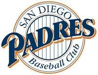 "San Diego Padres MLB Vinyl Decal - You Choose Size 2""-34"""