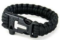 550 Paracord Bracelet Fire Starter Flint Scraper: Camping Hiking Gear Survival