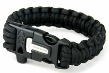 550 Paracord Bracelet Fire Starter Flint Scraper: Camping Hiking Gear Survival