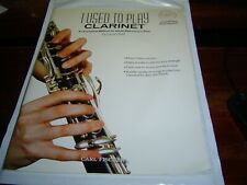 """""""VG COND W/ CD"""" I USED TO PLAY CLARINET by LARRY CLARK (2011) PAPERBACK"""