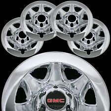 "2014-2018 GMC SIERRA 1500 CHROME 17"" 6 Lug Wheel Skins Hub Caps Clad Rim Covers"