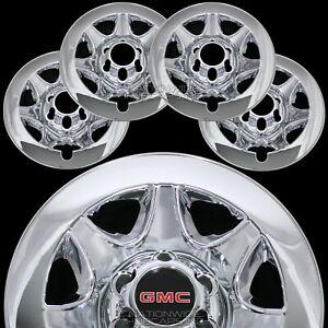 "2014-2018 GMC SIERRA 1500 CHROME 17"" 6 Lug Wheel Skins Hub Caps Clad Rim Covers"