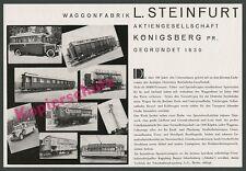 orig. Reklame Steinfurt Königsberg Waggonfabrik Brauerei Ponarth Reichsbahn 1935