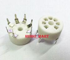 10pcs Pcb mount Silver plated 7pin ceramic tube socket for 6Z4 Eaa91 Ec92 6X4