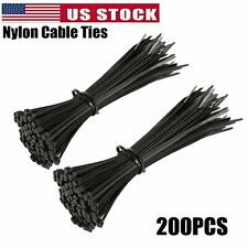 200pcs 4 To 18 Industrial Black Wire Cable Zip Uv Nylon Tie Wraps Heavy Duty