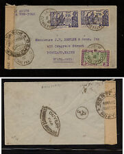 French Guyana  149, 170(2) censor cover to  US  1940      PT0914