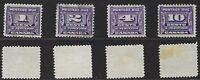 Canada Scott J11-J14: Complete Set of 4 (1933-1934) Postage Due Set, F-VF Used