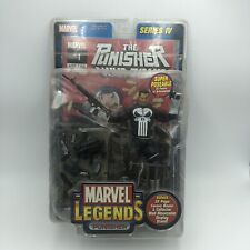 "ToyBiz Marvel Legends Series IV Punisher MOC 2003 6"" Action Figure Shelf Wear"