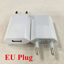 2x European USB AC Power Adapter EU Plug Wall Charger For iPhone Samsung iPod