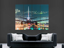 OSAKA aeroporto aereo Runway LUCI GIANT POSTER WALL ART PICTURE PRINT LARGE