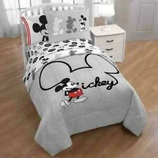 Disney Mickey Mouse Gray Reversible 5Pc Full Bedding Set with (2) Shams *New*