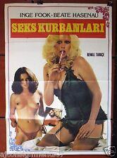 SEKS KURBANLARI {Inge Fook} Turkish Original Movie Poster 70s