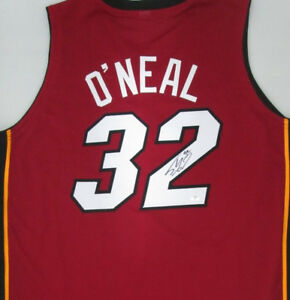 Shaquille O'Neal Signed Red Heat Jersey (JSA COA) 4×NBA champion 2000–2002,2006
