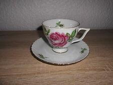 Royal Tettau Annette Rose Gedeck Kaffee Rosa Rote Rose Goldrand Tasse Teller ☆