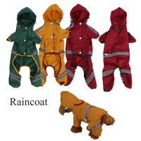 Waterproof Fashion Clothing Puppy Rainwear Pet Coat Jacket Dog Raincoat