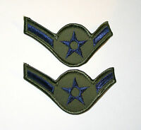 2 Vintage Subdued IVY USAF Air Force Airmen 3rd Class Patches NOS New 1970s?