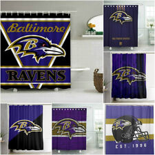 Baltimore Ravens Football Bathroom Shower Curtains Waterproof Bath Curtain Gifts