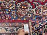 RED HANDMADE VINTAGE WOOL RUG 10x13 HAND-KNOTTED ORIENTAL ANTIQUE big carpet
