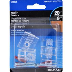 Hillman AnchorWire 4 lb. Plastic Heavy Duty Mirror Holder Hanger Kit 4 pk 122201