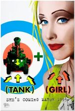 TANK GIRL - 1995 - original D/S Advance Day-Glo Movie Poster - LORI PETTY