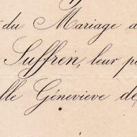 Auguste De Suffren 1878 Genevieve Clauselles De Bourges