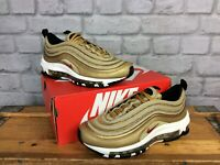 NIKE UK 4 EU 36.5 AIR MAX 97 METALLIC GOLD BULLET TRAINERS CHILDRENS LADIES LG