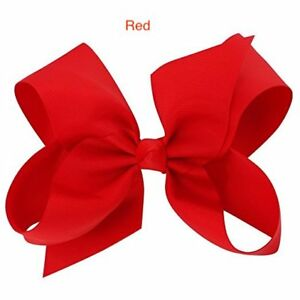 """6"""" Red Hair Bows Jojo Style Clip Large for Girls Teens Kids School Dance Party"""