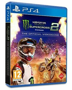 MONSTER ENERGY SUPERCROSS 2 PS4 ITALIANO MOTO GP PLAY STATION 4 MX MOTO CROSS