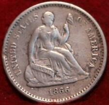 1866-S San Francisco Mint Silver Seated Liberty Half Dime