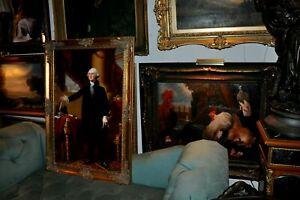 Large  Museum Quality  George Washington   Oil Painting