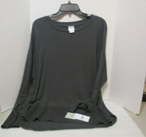 N by Natori Enlightened Brushed Grey Jersey Top 24/7 Size Large NWT $48