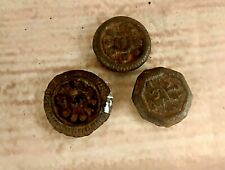 3 Pcs  Rare Old Vintage  Iron Mercantile Measuring Weights India W14