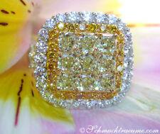 Unbehandelte Ringe mit Diamanten mit VVS Reinheit Ringgröße 52 (16,5 mm Ø)