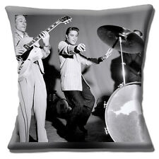 Elvis Cushion Cover 16x16 inch 40cm The King of Rock & Roll Black & White Photo