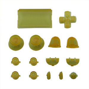 Plastic Solid Thumbstick Buttons Kit for PS4 Pro Slim Remote Controller 15PCS