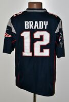 NFL NEW ENGLAND PATRIOTS AMERICAN FOOTBALL SHIRT #12 BRADY NIKE SIZE L ADULT