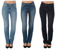 Womens Ladies Ex High Street Casual Straight Leg Denim Jeans