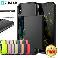 For iPhone X XS Max XR iPhone 8 Plus 7 Plus SE2020 Wallet Card Holder Case Cover