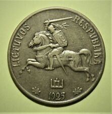 Lithuania 50 Centu 1925 Almost Uncirculated Coin - Nice Details