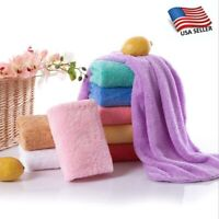 Soft Flannel Fleece Blanket Lightweight Bed Warm Towel Blanket Couch Sofa USA