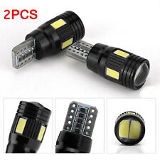 2pcs T10 White LED Width Lamp Daytime Fog Lights Bulb License Plate Light 6000K