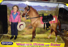 Breyer Model Horses Classic Size Red Roan Quarter Horse Mare & Western Rider