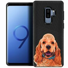 For (Samsung S9+/ S9 Plus) Case with Dog Designs Hard Plastic Dual Layer