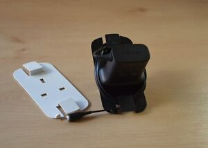 4x Charger cable tidy, no more wire spaghetti. For UK plug phone/tablet charger
