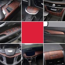Peach Wood Grain Car Interior Kit Cover Trim For Cadillac CT6 2016-2018