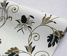 45cm x 10m Roll Vintage Style Pattern Vinyl Furniture Wall Paper Sticker p009-1