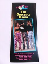 Vtg Advertising Pamphlet Brochure California Wild Threads Designer Baggy Pants